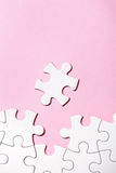 White puzzle with missing part Royalty Free Stock Photo