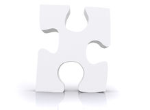 White puzzle piece Stock Photography