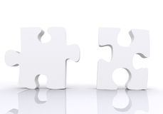 White puzzle pieces Royalty Free Stock Photo