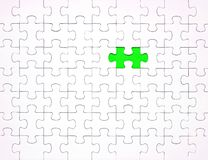 White puzzle pieces on blue background. Background for content royalty free stock images