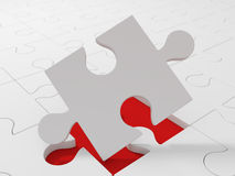 White puzzle pieces Royalty Free Stock Photos