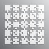 25 White Puzzle Pieces JigSaw. Vector Puzzle. 25 White Puzzle Pieces - JigSaw. Vector Illustration for Web Design. Vector Object. Puzzle Business Presentation Stock Photography