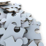White puzzle pieces Royalty Free Stock Image