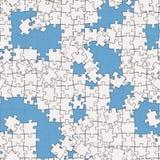 White puzzle Stock Image