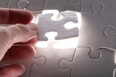 White puzzle Stock Photo