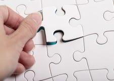 White puzzle Stock Photo