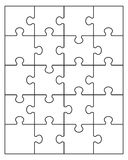 White puzzle 20 Royalty Free Stock Images
