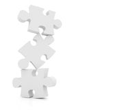 White puzzles Stock Images