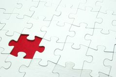 White puzzles. For background. business concept Royalty Free Stock Photos