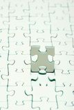 White puzzles. For background. business concept Royalty Free Stock Image