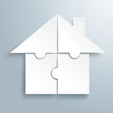 White 4 Puzzles House Royalty Free Stock Photo