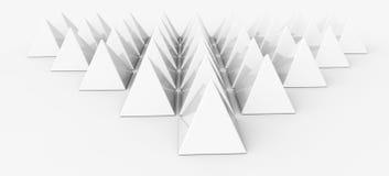 White pyramids Stock Photography