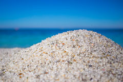 White quartz and coloured pebbles at Is Arutas beach Royalty Free Stock Images