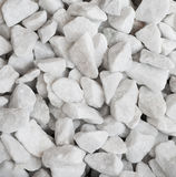 White quartz rocks background Stock Photography