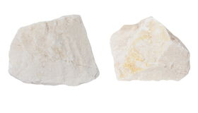 White quartz rocks isolated on white Royalty Free Stock Photo
