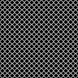 White quatrefoil pattern. Classic White quatrefoil pattern on black background stock illustration