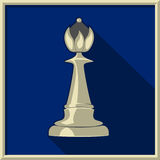 White queen. Chess. White queen on a blue background Royalty Free Stock Photography