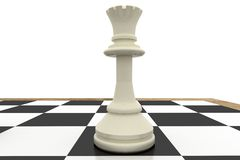 White queen on chess board Stock Photos