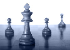 White Queen With Pawns Stock Photos