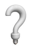 White question bulb Royalty Free Stock Photo
