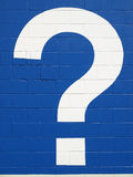 White question mark Stock Image