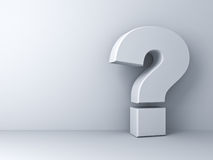 White question mark Royalty Free Stock Images