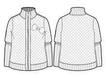 White quilted jacket Stock Images
