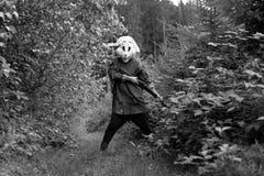 White rabbit hunter Stock Photo