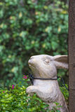 A white rabbit made from ceramic for decoration Royalty Free Stock Photo