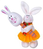 White rabbit with maracas Stock Photography