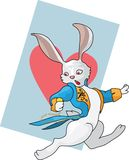 White rabbit is running Stock Image