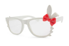 White rabbits eye glasses Stock Image