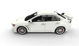 White Race Car - Top Side View Stock Images