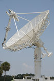 White radar dish Royalty Free Stock Photos