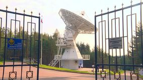 Radio telescope listens to space stock footage
