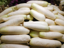 White radish for sale Royalty Free Stock Photo