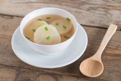 White radish soup in white bowl. Stock Photography