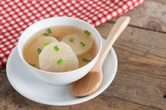 White radish soup in white bowl. White radish soup in white bowl Royalty Free Stock Photography