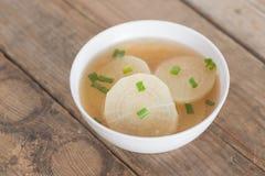 White radish soup in white bowl. Royalty Free Stock Photos