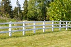 White rail fence Royalty Free Stock Image