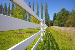 White rail fence Royalty Free Stock Photos
