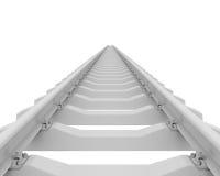 White railroad. 3d rendering on white background Stock Photo