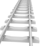 White railroad Stock Photo