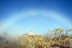 White rainbow Stock Image