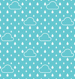 White Raindrops and white cloud pattern vector background Royalty Free Stock Image