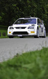 White rally car Royalty Free Stock Image
