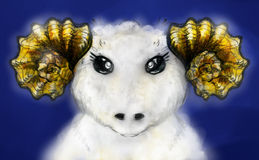 White ram Royalty Free Stock Photos