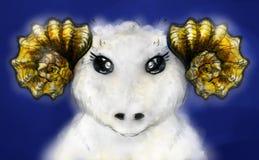 White ram royalty free stock photos