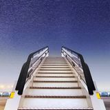 White ramp in airport Royalty Free Stock Image