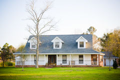 White Ranch Style American Home Royalty Free Stock Images